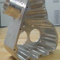 An example of a larger precision machined piece used for a Housing
