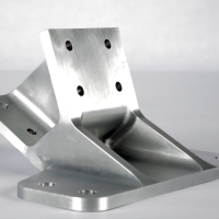 A Finished Aerospace Spin-Down Bracket